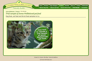 Free James Wellbeloved Cat Food Sample